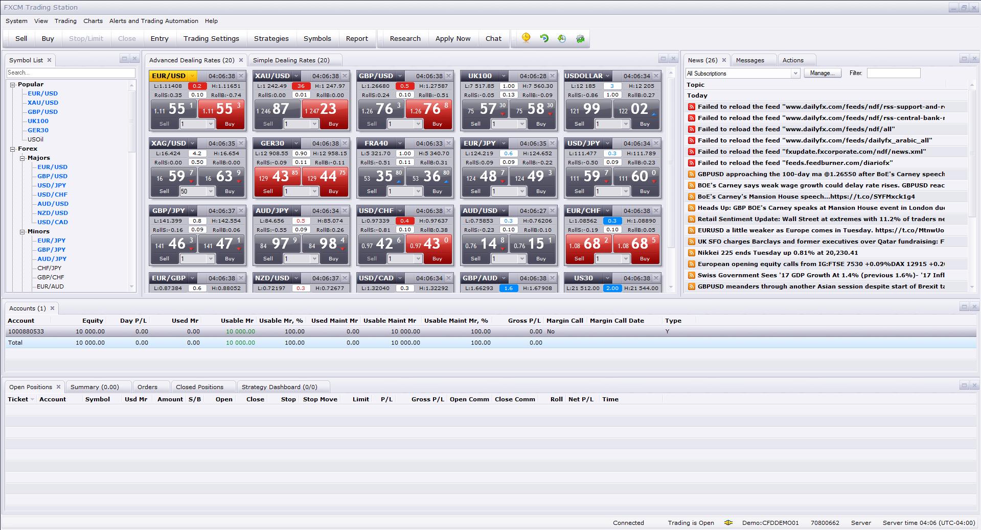 FXCM-desktop